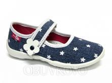 Detská domáca obuv renbut 33-415 modrá hviezda, ren but,26 - 31