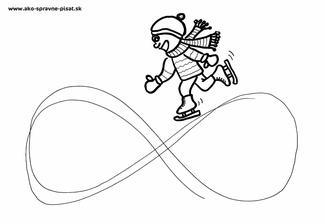 Korčuliar - Dráhu korčuliara kreslite niekoľkokrát celou pažou, potom predlaktím vo vzduchu. Nakoniec dráhu obtiahnite fixkou na papier.