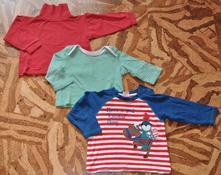 Rolák a 2 tričká s dlhým rukávom, f&f,80