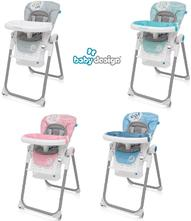 Detská jedálenská stolička baby design lolly,