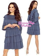 Úžasné dámske šaty s volánmi meggi , l / m / s / xl / xs