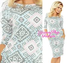Štýlové dámske vzorované šaty numoco, l - xxl