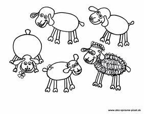 Ovečky - Dokresli ovečkám vlnu s pomocou špiráliek podľa predlohy.