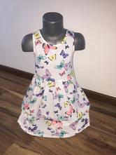 Motýlikové šaty, h&m,134 / 140