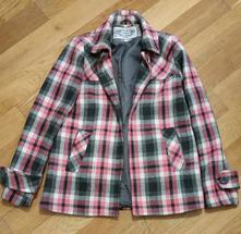 Károvaný kabát, c&a,36