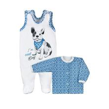 2 dielna kojenecká súprava - dog modrá veľ.56   , 56