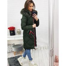 Dámska zimná bunda 0513, olivovo zelená, l / m / xl / xxl / xxxl