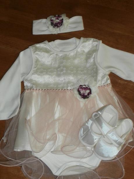 Dievčenské šaty na krst s body smotanová 13 cca 62 54b25aaf7b1