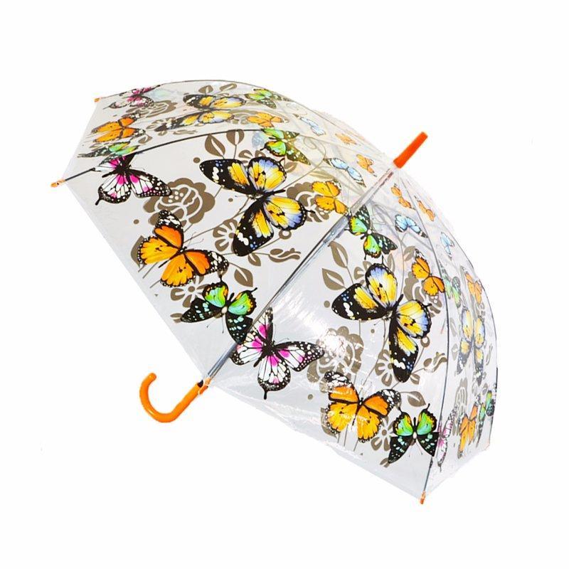 ecc9d4346 Poloautomatický transparentný dáždnik motýle, - 6,50 € od predávajúcej  majkavila   Detský bazár   ModryKonik.sk