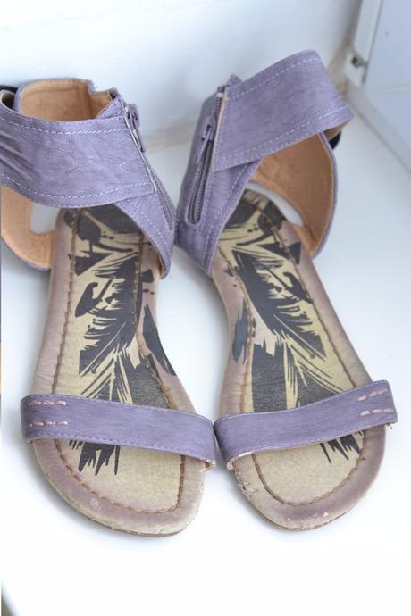 Fialové sandálky, 34