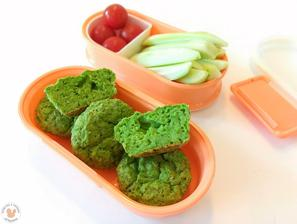 1r.+ Hráškovo-bazalkové muffiny a zeleninka, svačinka pro obě děti ven na hřiště