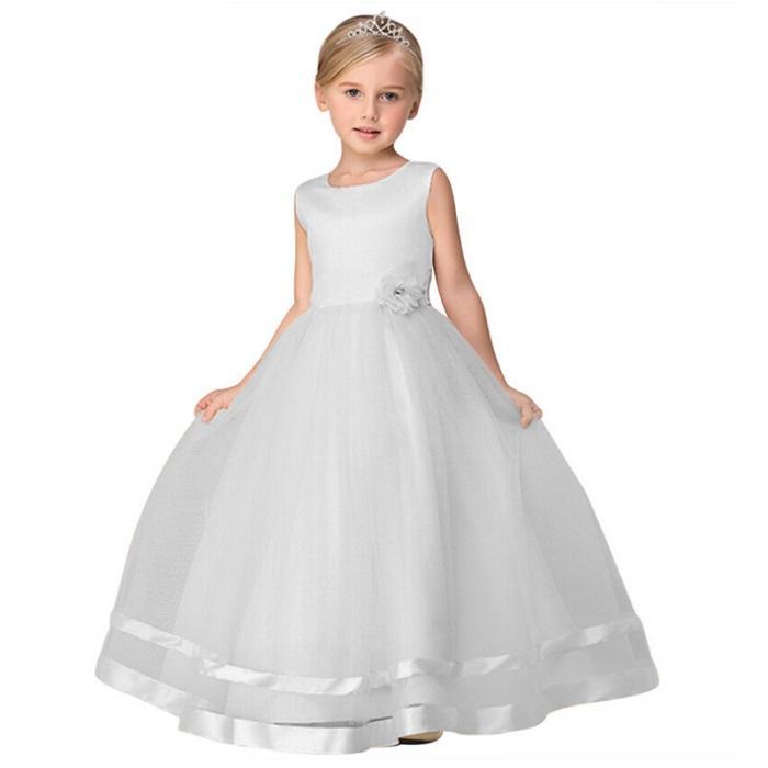 19c7f47a65c5 Detské biele spoločenské šaty