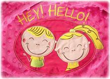 Sensillo deka s nápisom hey hello ružová,