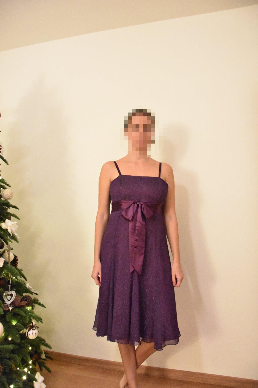 fe2ec8aeede69 Spoločenské šaty fialové, veľkosť xl (