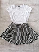 Veselá pásikavá sukňa,