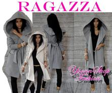 Luxusný dámsky flaušový kabát ragazza, l / m / s