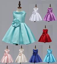 Dievčenské spoločenské šaty 3-12r. satin, 110 - 158