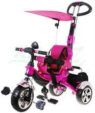 Trojkolka sportrike ružová, penové kolesá,