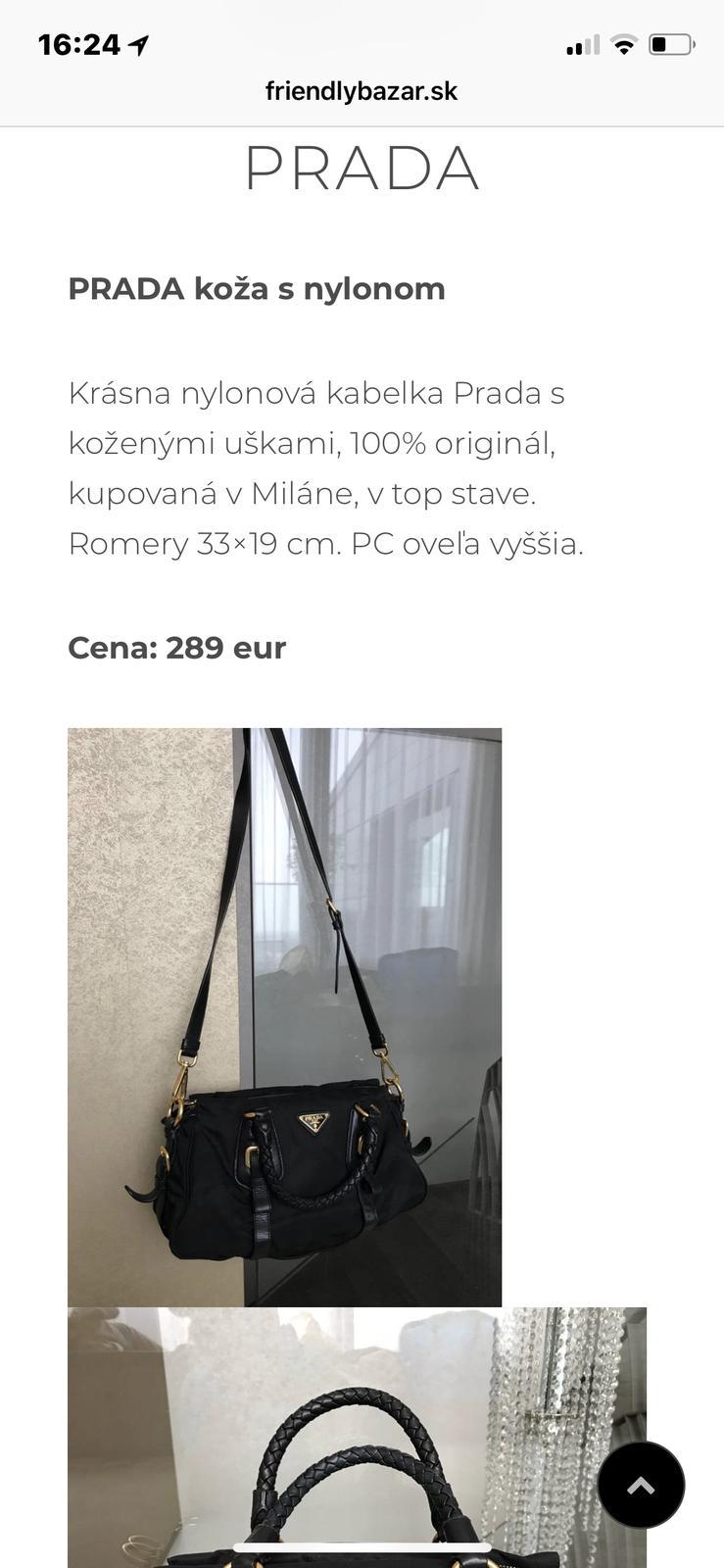 45c868a65 Kabelka prada, - 250 € od predávajúcej nataliabiz | Detský bazár |  ModryKonik.sk