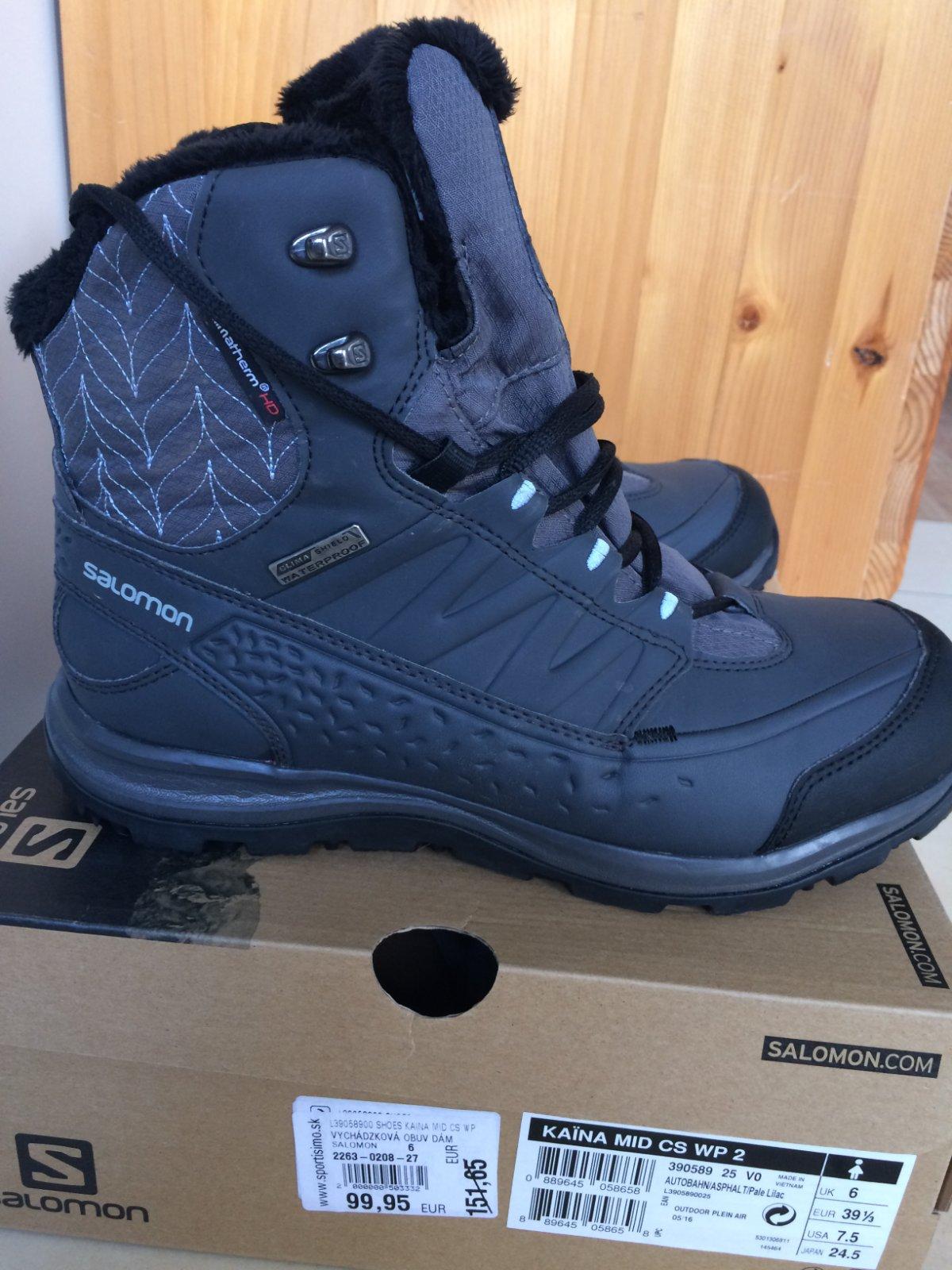 52590dd0ddf5 Zimné topánky salomon vel.39