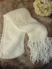 Biely hrubý šál, xxl