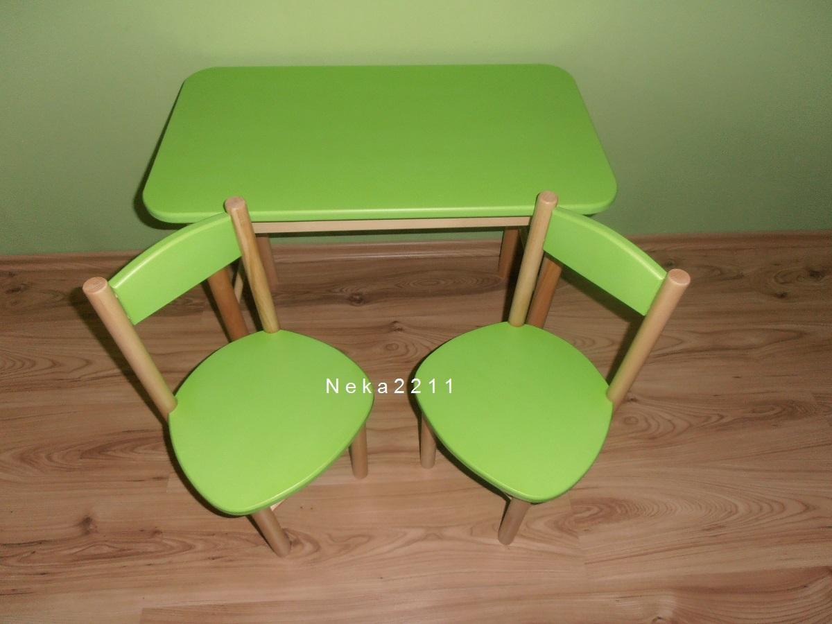 18e54628ce0d Detský stolík s dvoma stoličkami-buk