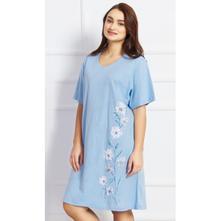 bd9a7505a76d Dámska bavlnená nočná košeľa s krátkym rukávom