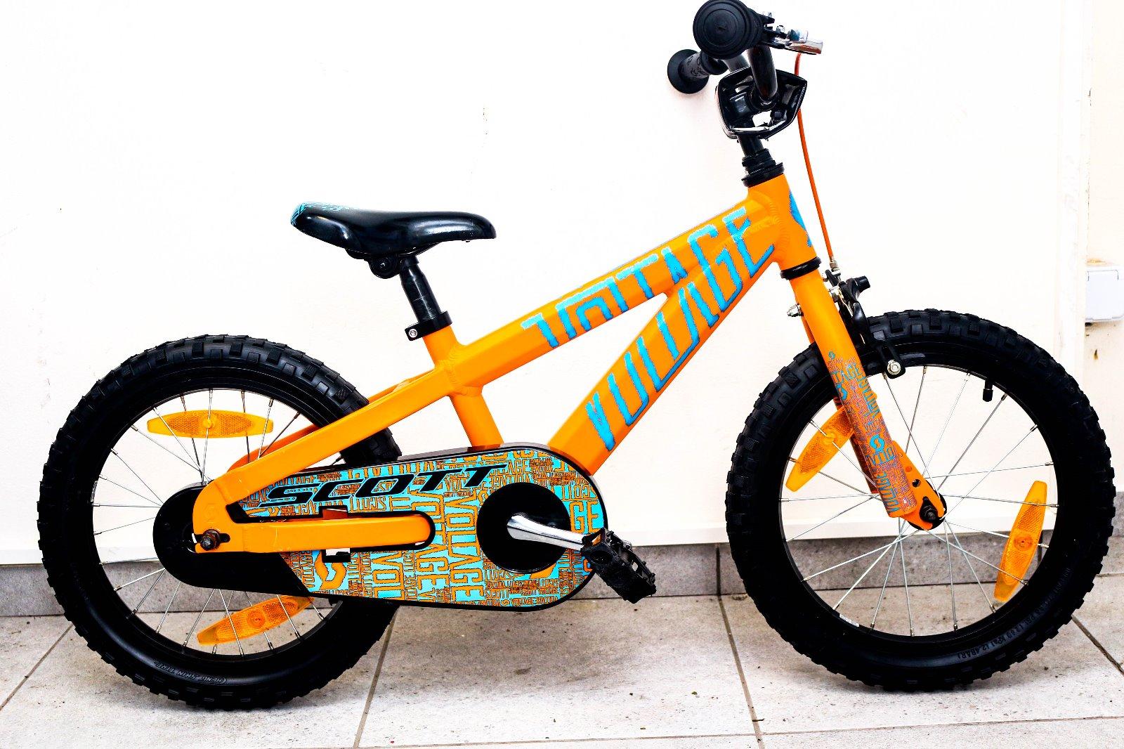 bbbaa4fc932ee Predám detský bicykel scott 16 hliník, - 150 € od predávajúcej bajkuj |  Detský bazár | ModryKonik.sk