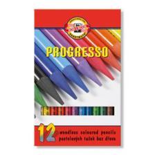 Pastelová ceruzka v laku PROGRESSO, 12 ks Výrobca KOH-I-NOOR