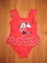 Dievčenské červené plavky minnie, disney,80