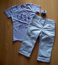 Tričko a trojštvrťové nohavice,