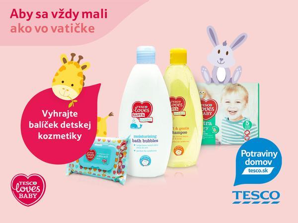 9e929de1ed02 ... nákup Tesco Potraviny domov s dovozom zadarmo a balíčkom detskej  kozmetiky Tesco Loves baby. Súťažiť môžete až do nedele 23.novembra 2014 do  15.00 hod.