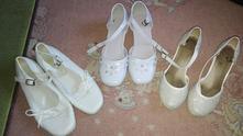 Balík bielych topánočiek č. 29 a 33, 3 páry, 29
