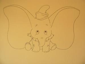 a toto dneska maminka nakreslila do detskej izby, je to zatial len obrys a na sirku ma asi tak 1 m :)))