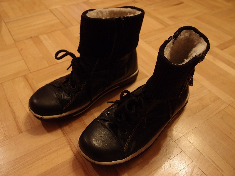 Kožené zimné topánky  b14f0033315