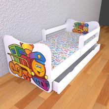 Detská posteľ 140cm x 70cm lokomotíva, 70,140