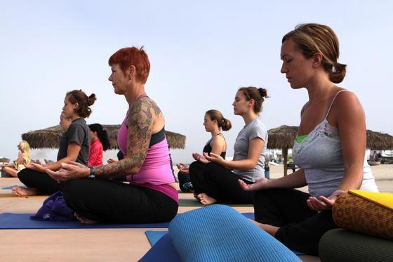 Sophia Leone Sexy Jóga Cvičenie Fuck taliansky, posilovať, jóga.