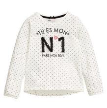 Bodkované tričko s nápisom som číslo jeden, h&m,110 / 116
