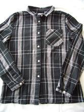 Čierno-sivá károvaná košeľa pepco v.152-158, pepco,152
