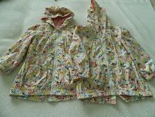 Tenké bundičky pre dvojičky dievčatá 116, 116