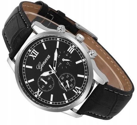 8aef2ac5e30 Elegantný pánske hodinky geneva - čierne