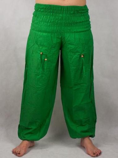 377b15292936 Turecké nohavice aladinky haremky zelene