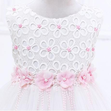 Spoločenské detské šaty s ružovými kvietkami 223f3362e36
