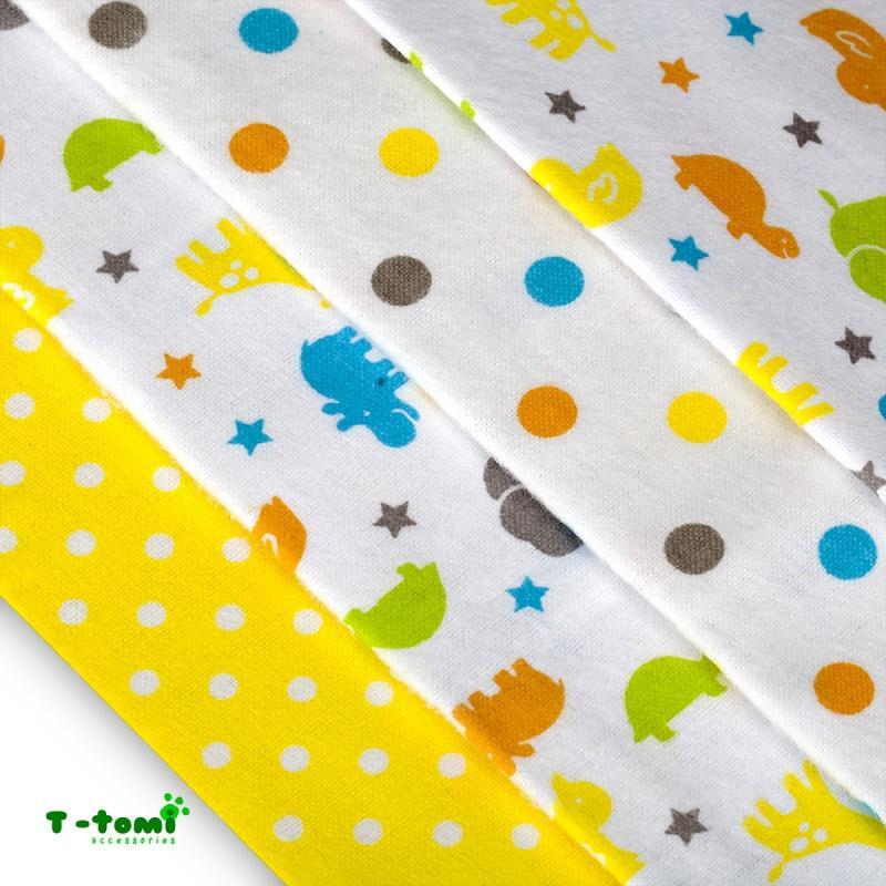 cecef38379ce6 Bavlnené plienky s flanelovou úpravou žlté žirafy, t-tomi - 12,30 € od  predávajúcej rinuska   Detský bazár   ModryKonik.sk