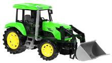 Traktor s lyžicou+otváranie kapoty,