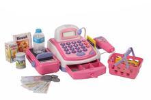 elektronická pokladňa so skenerom-ružová,