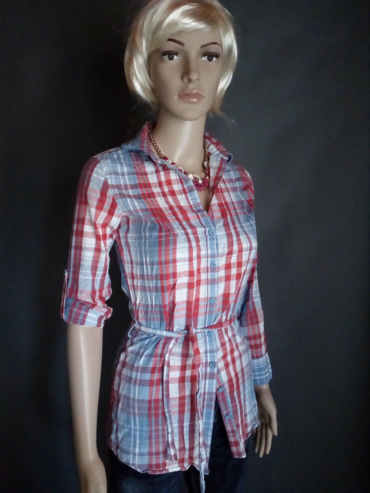 d394d0d1d076 F - károvaná predĺžená košeľa