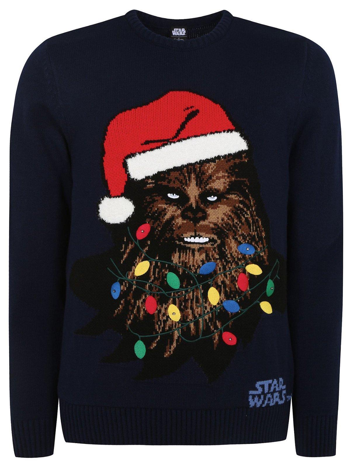 d8dcfb119e82 George pánsky vianočný svietiaci star wars pulover