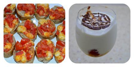 "Bruschetta s paradajkami + dezert ""Miláčik"""