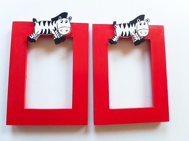 Zebričkové rámiky na fotečky vašich drobčekov :)